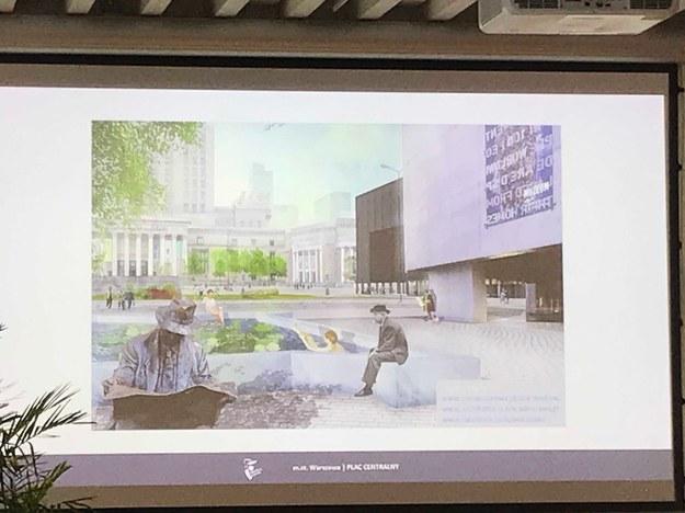 W cztery lata Plac Defilad ma się stać zielonym miejskim placem /Krzysztof Berenda /RMF FM