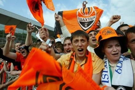 W Doniecku kibice są gotowi na wielki futbol. Niestety baza hotelowa pozostawia wiele do życzenia /AFP