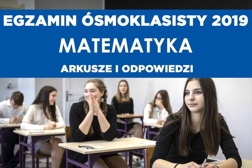 W drugi dzień egzaminu ósmoklasisty 2019 uczniowie zmierzyli się z matematyką /Maciej Kosycarz / KFP /Reporter