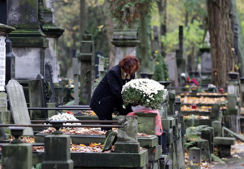 W dzień Wszystkich Świętych pogoda nie będzie sprzyjać długim wizytom na grobach bliskich /Tomasz Gzell /PAP