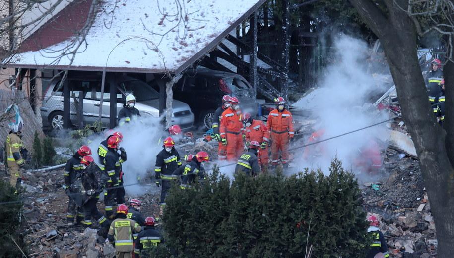 W eksplozji zginęło osiem osób / Andrzej Grygiel    /PAP