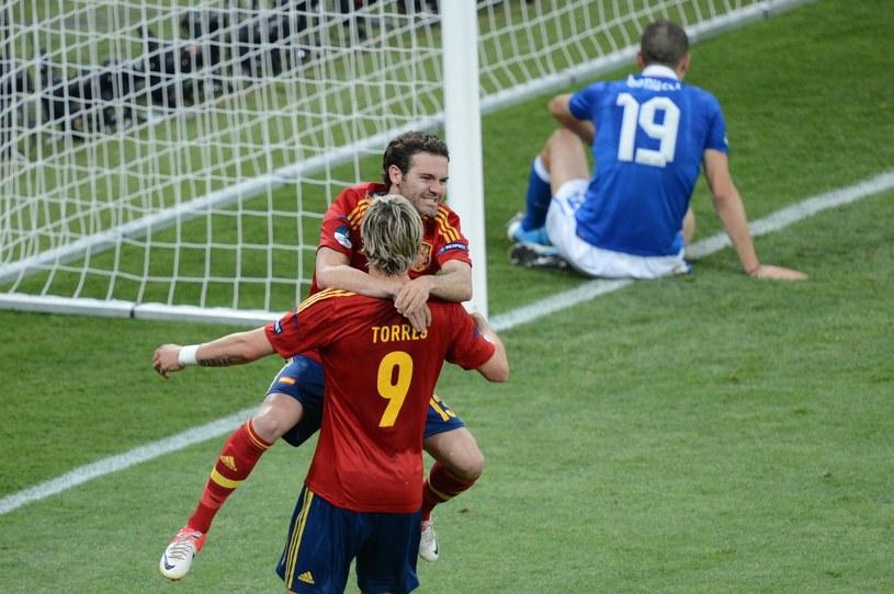 W finale Hiszpania pokonała Włochy /AFP