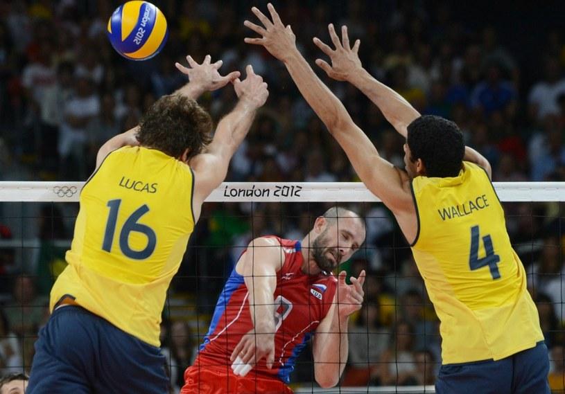 W finale igrzysk olimpijskich w Londynie Rosja wygrała z Brazylią 3:2 /AFP