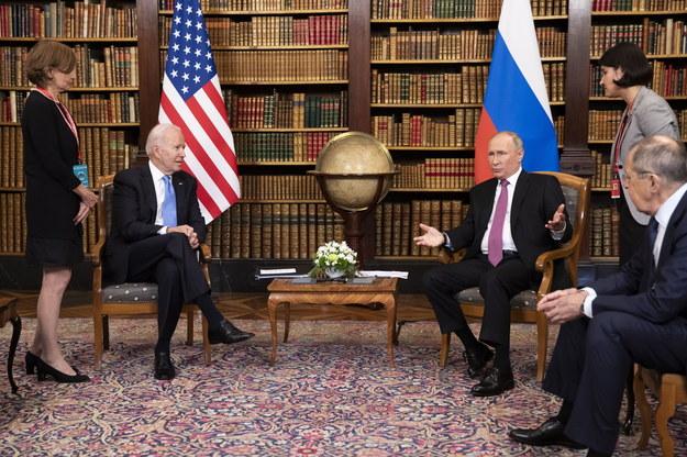 W Genewie odbyło się spotkanie Putin - Biden /PETER KLAUNZER / POOL / AFP /PAP/EPA