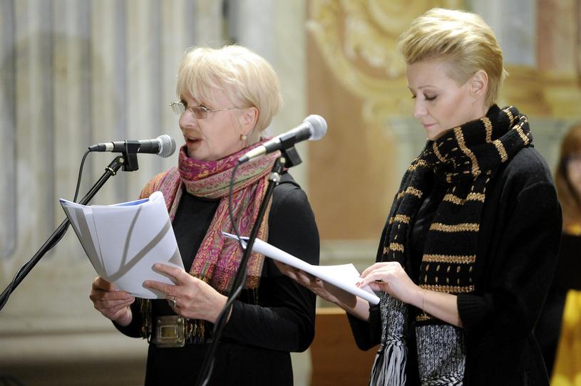 W gorszych momentach aktorce pomagała modlitwa. Na zdjęciu z Małgorzatą Kożuchowską / Mieszko Piętka /AKPA