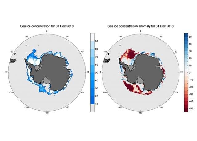 W grudniu 2018 roku antarktyczny lód morski topniał znacznie szybciej niż zwykle /materiały prasowe