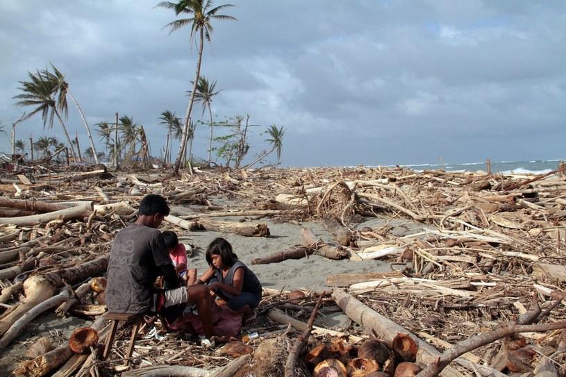 W grudniu ubiegłego roku tajfun Bhopa spowodował na filipińskiej wyspie Mindanao śmierć około dwóch tysięcy ludzi /AFP
