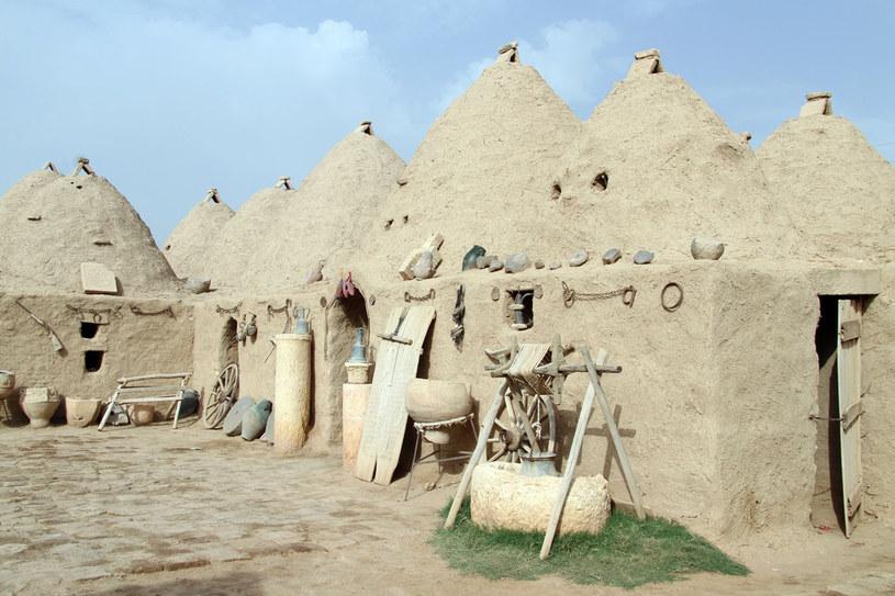 """W Harran stożkowe domy-ule tworzą jedno gospodarstwo. Każdy ma własny """"ul"""" jako pokój /123RF/PICSEL"""