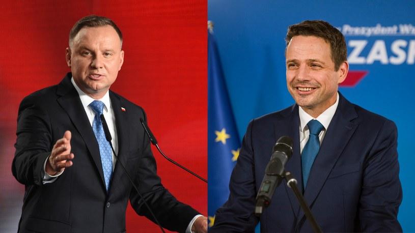 W II turze wyborów zmierzą się Andrzej Duda i Rafał Trzaskowski /Zbyszek Kaczmarek/Attila Husejnow /Agencja FORUM