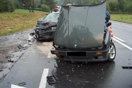 W innym wypadku w Wyżnem (4 sierpnia 2007 r.)  zginął 33- letni kierowca bmw /Policja