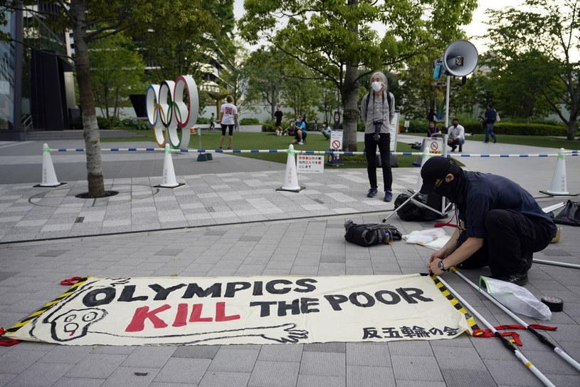 W Japonii nasilają się protesty przeciwko igrzyskom olimpijskim /PAP/EPA