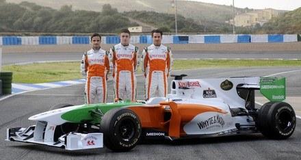 W Jerez bolid pokazało Force India... /AFP