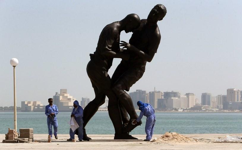 W Katarze postawiono rzeźbę upamiętniającą incydent między Zidane'em a Materazzim w finale MŚ w Niemczech. /AFP