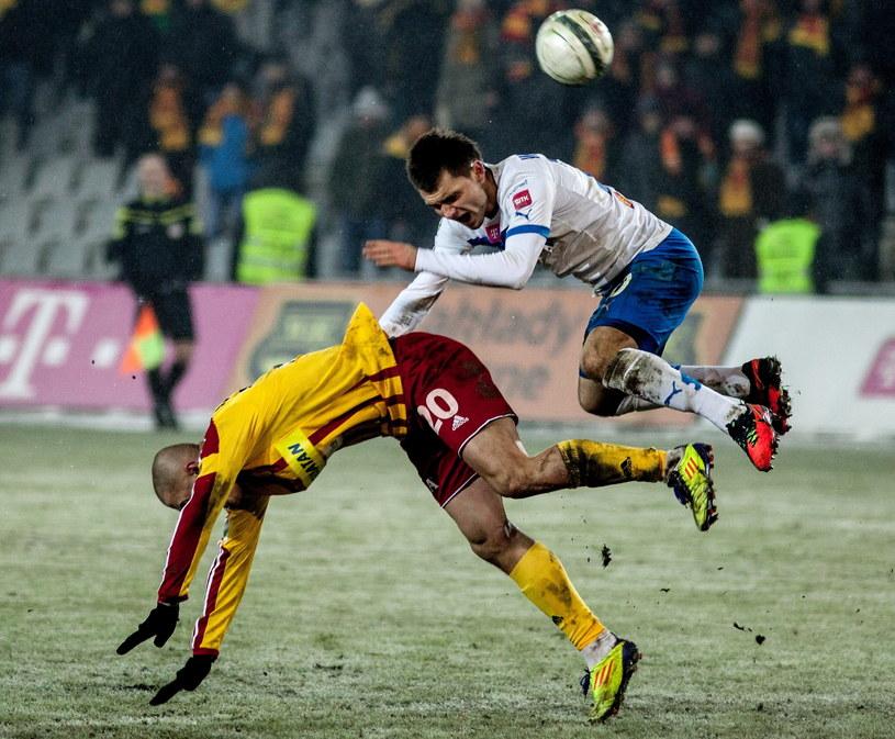 W Kielcach Lech wygrał z Koroną 1-0 /Fot. Michał Walczak /PAP