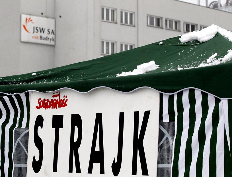 W kopalni Budryk w Ornontowicach trwa strajk /Andrzej Grygiel /PAP