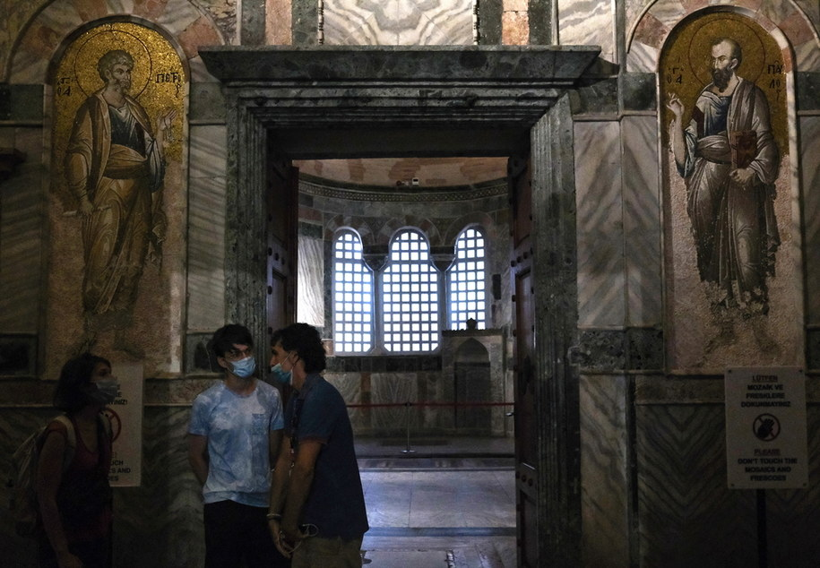 W kościele na Chorze podziwiać można XIV-wieczne mozaiki i freski przedstawiające sceny biblijne /SEDAT SUNA /PAP/EPA