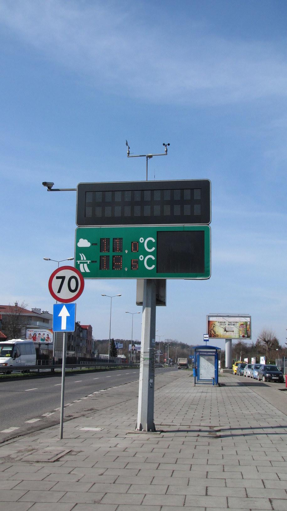 W Krakowie tablice pokazują... temperaturę /Maciej Grzyb /RMF FM