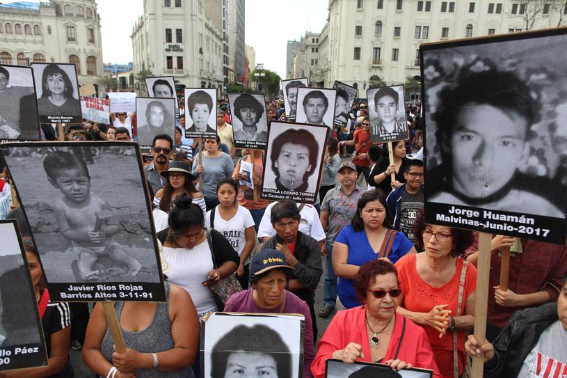 W Limie doszło do starć z policją /Juan Vita /AFP