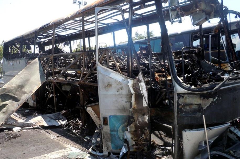 W lipcu 2012 roku na lotnisku Sarafowo w Burgas dokonano zamachu na autobus z izraelskimi turystami /BGNES /PAP/EPA