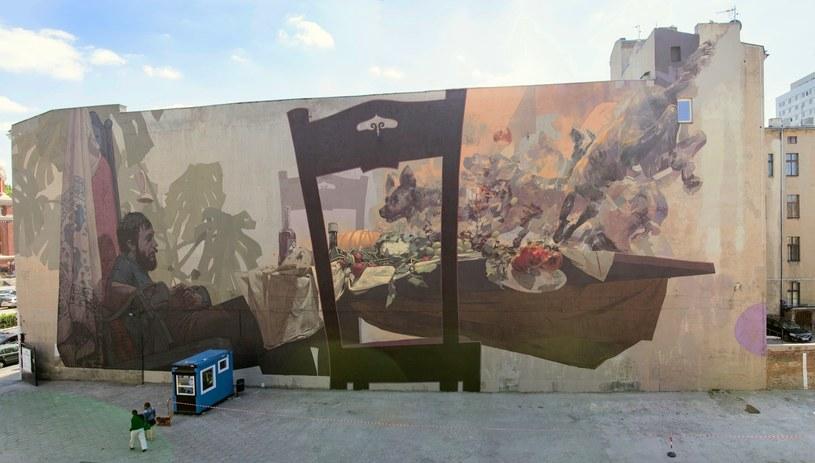 W Łodzi -  ramach projektu UNIQA Art Łódź - powstał mural autorstwa Etam Cru (współpraca: Robert Proch) /materiały prasowe