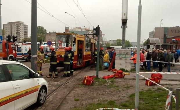W Łodzi wykoleił się tramwaj. Pięć osób poszkodowanych