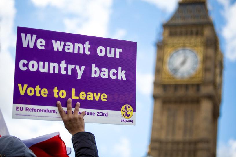 W Londynie ścierają się zwolennicy i przeciwnicy Brexitu /Tom Nicholson/London News Pictures /Agencja FORUM