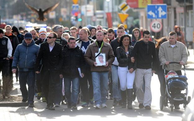 W marszu wzięło udział ok. 200 osób /Bartłomiej Zborowski /PAP
