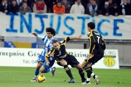 W meczu Grenoble - Auxerre widzowie nie zobaczyli bramek /AFP