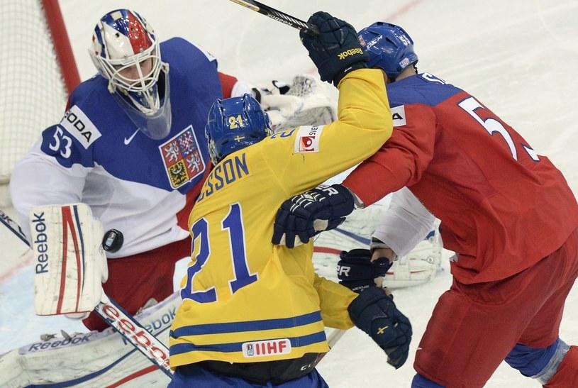 W meczu Szwecja - Czechy nie brakowało ostrych spięć /AFP