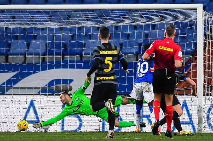 W meczu z Interem Keita Balde strzelił gola z rzutu karnego. /SIMONE ARVEDA /PAP/EPA