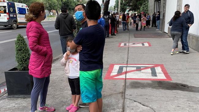W Meksyku ludzie wyszli na ulice /EPA/Jose Pazos /PAP/EPA