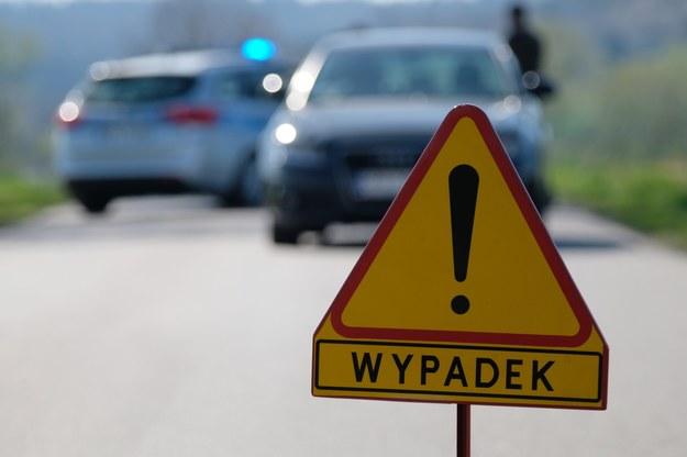 W miejscu wypadku droga jest nieprzejezdna. Utrudnienia mogą potrwać do godz. 18. /Łukasz Solski /East News