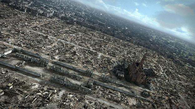 """W """"Mieście ruin"""" przedstawiono trójwymiarową panoramę ruin powojennej Warszawy /materiały prasowe"""