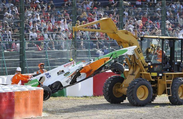 W minionym sezonie Liuzzi ze zmiennym szczęściem jeździł w Force India /AFP