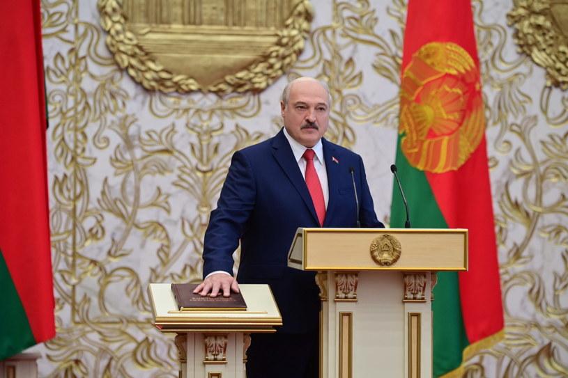 W Mińsku odbyła się potajemna ceremonia zaprzysiężenia Alaksandra Łukaszenki na prezydenta /ANDREI STASEVICH / BELTA /PAP/EPA