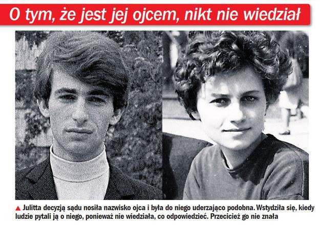 W młodości Julitta Krajewska była wierną kopią ojca /Życie na gorąco