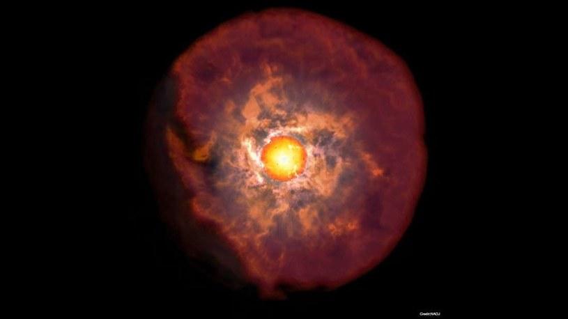 W momencie eksplozji supernowa odrzuca całą materię - tu wizja artystyczna /Fot. NAOJ /materiały prasowe