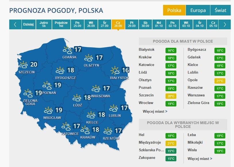 W najbliższy czwartek poprawa pogody! /INTERIA.PL