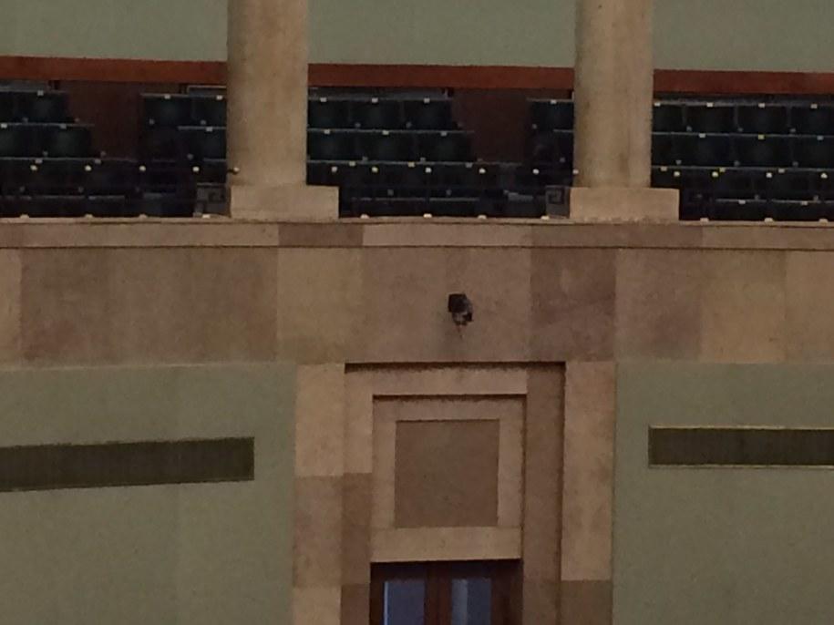 W naprawie jest kamera znajdująca się nad klubem PiS /Mariusz PIekarski /RMF FM