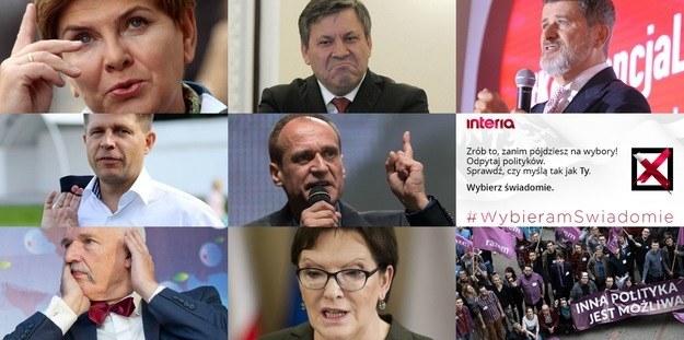 W naszej akcji #WybieramSwiadomie to internauci zadawali pytania politykom /INTERIA.PL