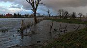 W nocy wylały wezbrane wody jeziora Drużno