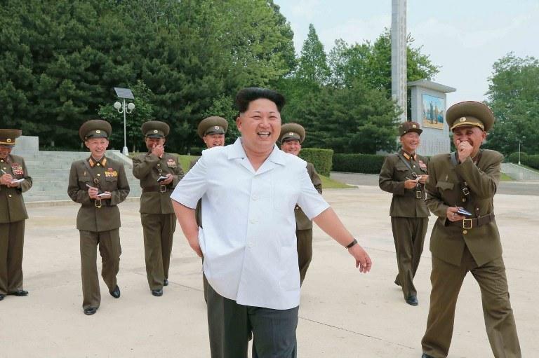W osobnym obwieszczeniu reżim Kim Dzong Una zapewnił o chęci rozwiązania sporu/ Na zdjęciu Kim Dzong Un /AFP