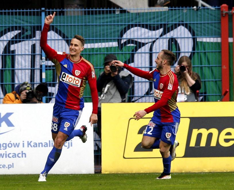 W ostatniej kolejce Piast pokonał Lechię Gdańsk 3-0 /Andrzej Grygiel /PAP