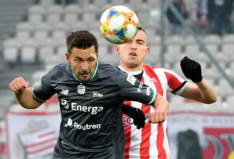 W ostatniej kolejce rundy zasadniczej Lechia przegrała z Cracovią 2-4 /Jacek Bednarczyk   /PAP