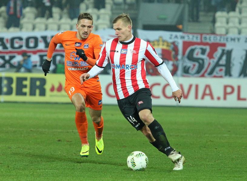 W ostatnim ligowym meczu Cracovia przegrała z Bruk-Bet Termalisa 1-3 /Fot. Stanisław Rozpędzik /PAP