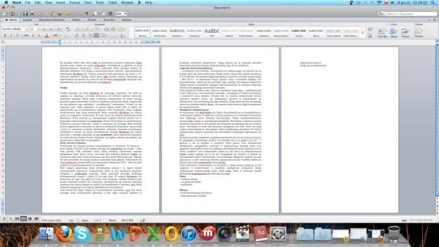 W pakiecie Office 2011 oprócz wstążki mamy również tradycyjne menu /INTERIA.PL