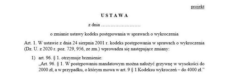 W petycji postuluje się, aby w przepisie tym kwotę 500 zł zamienić na 2000 zł, zaś 1000 zł na 4000 zł. Źródło: Sejm /Dziennik.pl