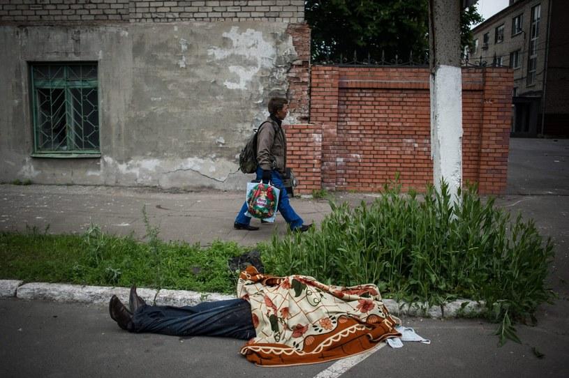 W piątek w Mariupolu doszło do gwałtownych zamieszek /PAP/EPA