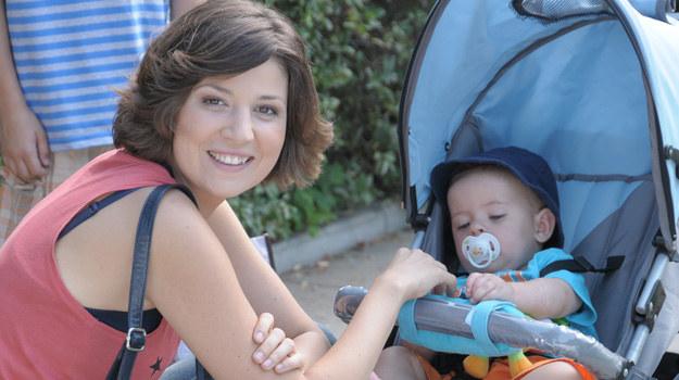 """W """"Pierwszej miłości"""" jej bohaterka - Kinga - również została świeżo upieczoną mamą /Polsat /materiały prasowe"""