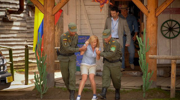 """W """"Pierwszej miłości"""" sceny z zatrzymania Marysi przez policję były nagrywane w miasteczku westernowym. /Bogdan Bogielczyk /ATM"""
